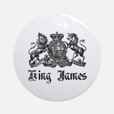 King James Vintage Crest Family Name Ornament (Rou