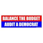 Balance The Budget, Audit A Democrat