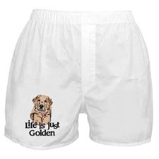 Life is Just Golden Boxer Shorts