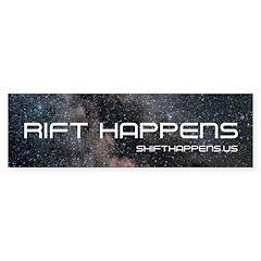 SHIFT HAPPENS RIFTIE Bumper Bumper Sticker