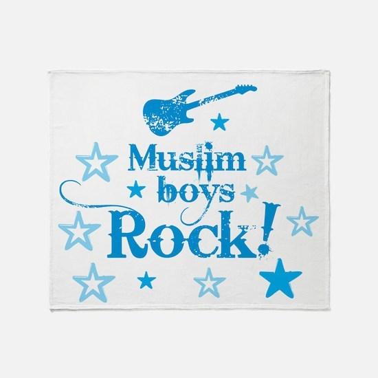 Muslim Boys Rock Throw Blanket