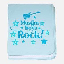 Muslim Boys Rock baby blanket
