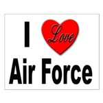 I Love Air Force Small Poster