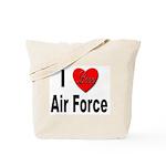 I Love Air Force Tote Bag