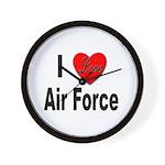 I Love Air Force Wall Clock