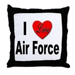 I Love Air Force Throw Pillow