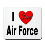 I Love Air Force Mousepad