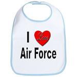 I Love Air Force Bib
