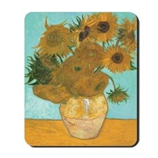 Van Gogh Vase with Sunflowers Mousepad