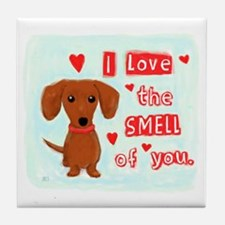 Dachshund Love Tile Coaster