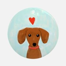 Dachshund Love Ornament