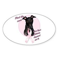 Pink Oval Decal