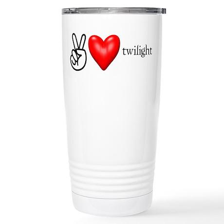 Peace Love Twilight Stainless Steel Travel Mug