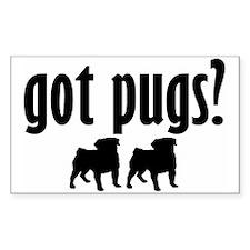 Got Pugs? (2) Rectangle Decal