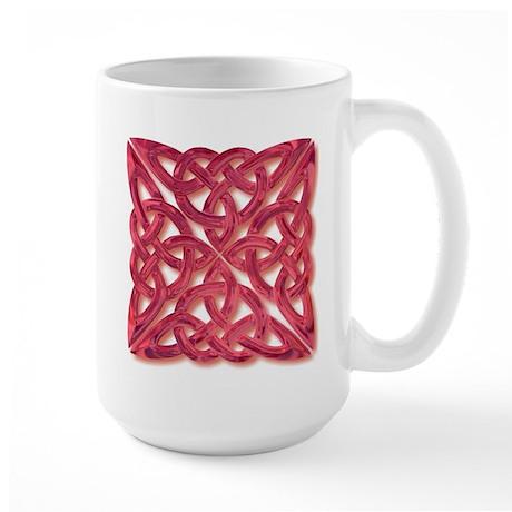 4 Square - red glass Large Mug