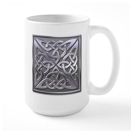 4 Square - silver Large Mug