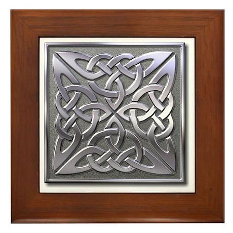 4 Square - silver Framed Tile