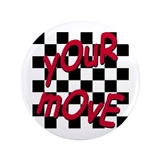 "Your Move - Chess Board 3.5"" Button (100 pack)"