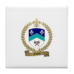 GILBERT Family Crest Tile Coaster