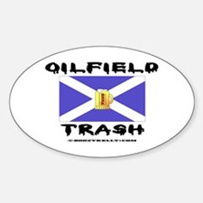 Scottish Oil Field Trash Oval Decal