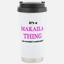 It's a Makaila thin Stainless Steel Travel Mug