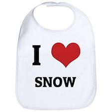 I Love Snow Bib