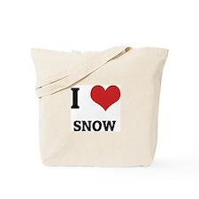 I Love Snow Tote Bag