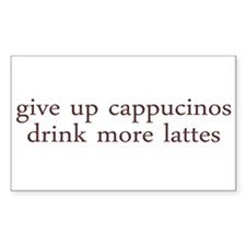 Give Up Cappucino Rectangle Decal