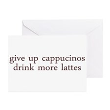 Give Up Cappucino Greeting Cards (Pk of 10)