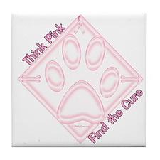 Think Pink Tile Coaster