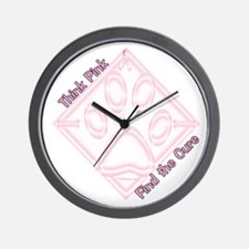 Think Pink Wall Clock
