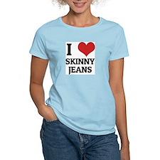 I Love Skinny Jeans Women's Pink T-Shirt
