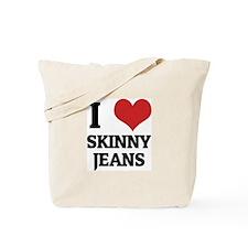I Love Skinny Jeans Tote Bag