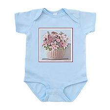 Pink Floral Basket Baby/Infant Creeper