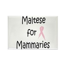 Maltese for Mammaries Rectangle Magnet
