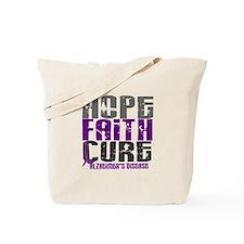 HOPE FAITH CURE Alzheimer's Disease Tote Bag