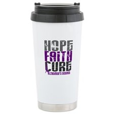 HOPE FAITH CURE Alzheimer's Disease Travel Mug
