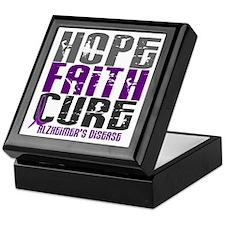HOPE FAITH CURE Alzheimer's Disease Keepsake Box