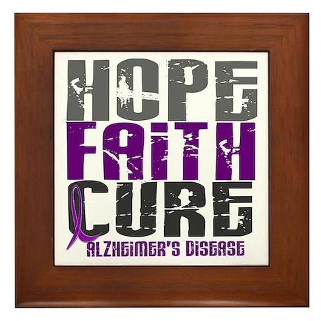 HOPE FAITH CURE Alzheimer's Disease Framed Tile