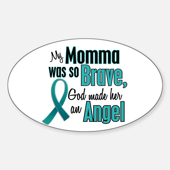 Angel 1 TEAL (Momma) Oval Decal