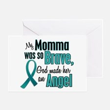 Angel 1 TEAL (Momma) Greeting Card