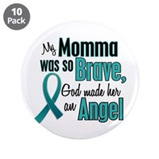 """Angel 1 TEAL (Momma) 3.5"""" Button (10 pack)"""