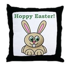 Hoppy Easter Throw Pillow