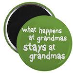 """What Happens At Grandma's 2.25"""" Magnet (100 pack)"""