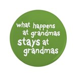 """What Happens At Grandma's 3.5"""" Button (100 pack)"""