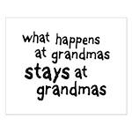 What Happens At Grandma's Small Poster