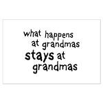 What Happens At Grandma's Large Poster