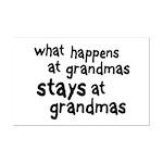 What Happens At Grandma's Mini Poster Print