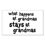 What Happens At Grandma's Rectangle Sticker