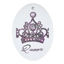"""Queen"" Oval Ornament"